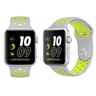 amenazar Usando una computadora Incentivo  APPLE WATCH NIKE+ 42mm Aluminum Case, Silver/Volt Sport Band - Smartwatch -  VGC - $119.99 | PicClick