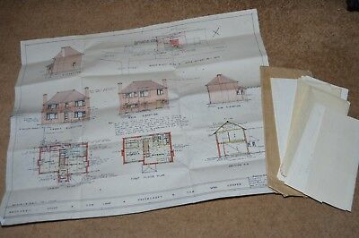 HAVERCROFT nr Wakefield Ryhill Hemsworth COW LANE house building plans etc 1958
