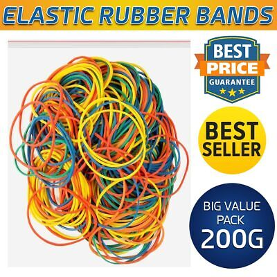 200g Strong Elastic Rubber Bands for Home, School and Office 400 pcs