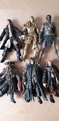 PIRATES OF THE Caribbean - 6 Toy 'Zizzle' Figures from the Disney Movies
