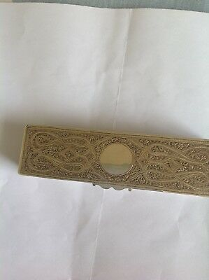 Exquisite Antique Islamic Persian Indian Kashmir Solid Silver Box