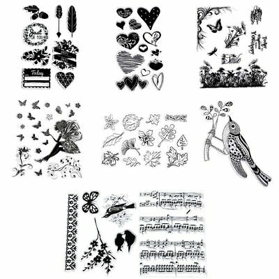Card DIY New Silicone Stamp Sheet Cling Scrapbooking Transparent Clear Rubber