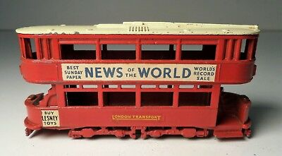 Vintage Lesney Moko Matchbox #Y-3 London E Class Tram Car News of the World 1956