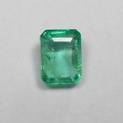 1.56ct Natural Colombian Emerald Octagon cut ~ Good Green Top Luster Gemstone