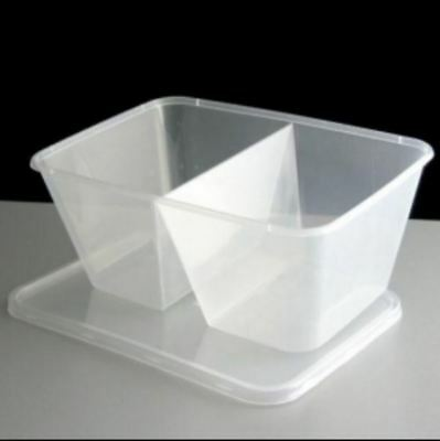250 x Premium Quality Food Catering Plastic Twin MICROWAVE CONTAINER & LID 750CC