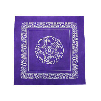 1pc 49*49cm Tarot game tablecloth non-woven material board game purple color JC