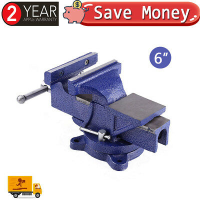 """Heavy Duty 6"""" Jaw Bench Vice Vise Workshop Clamp Work Swivel Base Bench Table UK"""