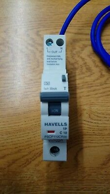 Havells PSCP110CR30 10A 30mA RCBO Circuit Breaker Type C