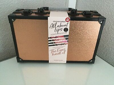 Colour Cargo All About Lips Collection In Mini Suitcase/briefcase New Gift Cute