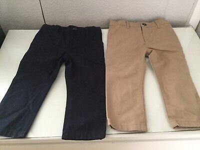 M&s Boys 18-24 Months 2 Piece Set Trousers Smart New With Tag Unwanted Gift Baby