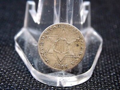 1856 Three 3 Cent Silver Trime 3CS  East Coast Coin & Collectables, Inc.