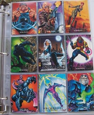 2c52f00fdd8 1992 SKYBOX MARVEL Masterpieces Series 1  Complete 100 Card Set ...