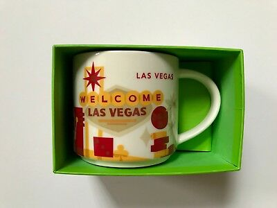 STARBUCKS Las Vegas You Are Here Mug 14 OZ.  Brand NEW in box with tag!