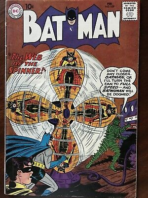 Batman #129 - February 1960 Issue Unofficial Grade FN (6.0) DC Comic Silver Age