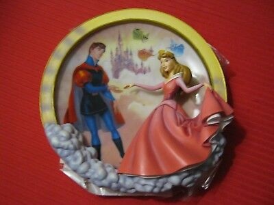 DISNEY'S Bradford Edition DANCING IN THE CLOUDS Sleeping Beauty 3-D Plate-COA