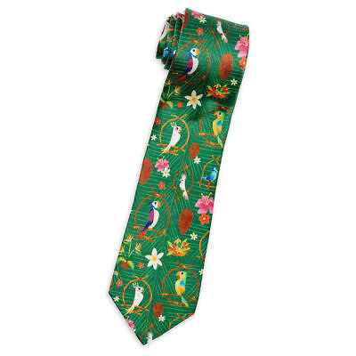 Disney Parks Enchanted Tiki Room Silk Tie For Adults New with Tags