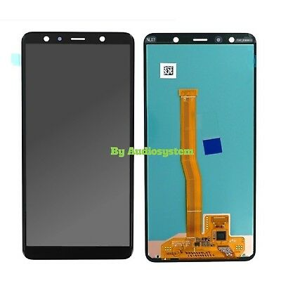 Display+Touch Screen Schermo Samsung Galaxy A7 2018 Sm-A750F Nero Vetro Lcd