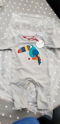 Oliver And Moss Tobias the Toucan  0-6 Months Baby Grow BNWT