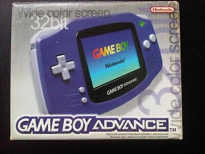 Box and instructions ONLY for the Game Boy Advance GBA purple console