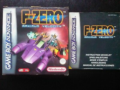 F-Zero:Maximum Velocity box and instruction booklet/manual only (NO GAME)