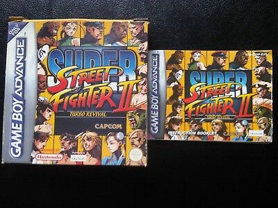 Super Street Fighter II Turbo Revival GBA box + instruction booklet/manual ONLY