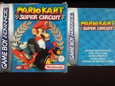 Mario Kart Super Circuit box and instruction booklet/manual only (NO GAME)