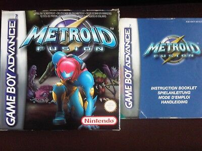Metroid Fusion box and instruction booklet/manual only (NO GAME)