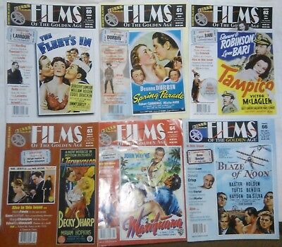 Films of the Golden Age lot of 15 magazine issues~ movie stars & movies #2
