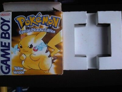 Game Boy Color Pokemon Yellow Version Special Pikachu Edition box ONLY (NO GAME)