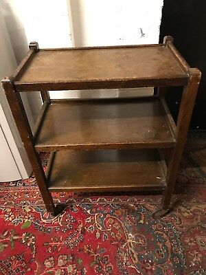 vintage Wheeled library bookcase