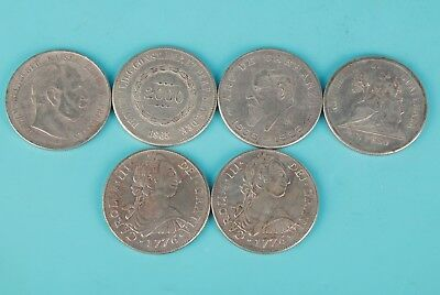 7 Chinese Folk Collection Scattered Silver-Plated Copper Commemorative Coins