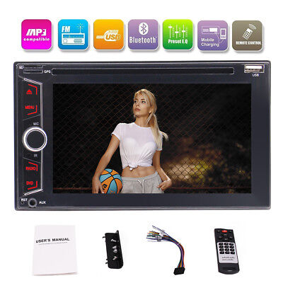 HD Double 2 DIN Touch Screen 7'' Bluetooth Car Stereo CD MP5 Player Radio US