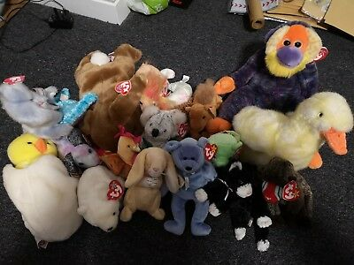 Huge Collection Job Lot Vintage retired TY Beanie Babys With Original Tags