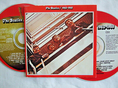 """The Beatles 1962-1966 """"The Red Album"""" 1993 Apple 2 CD Fat Box"""