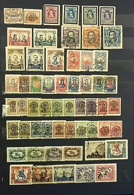 8 page Lithuania Stamps Lot 99