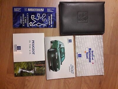 98-03 Peugeot 306 Mk2 Owners Handbook Manual Pack With Stamped Service Book