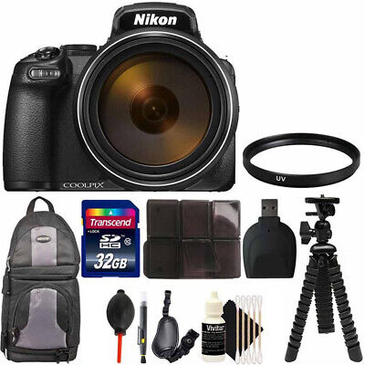 Nikon COOLPIX P1000 Digital Camera + 77mm UV Filter + Accessory Kit