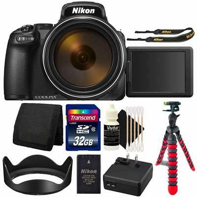 Nikon COOLPIX P1000 Digital Camera + 32GB Card +  Accessory Kit