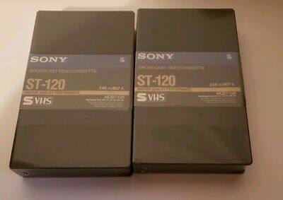 SONY MQST-120 S-VHS Master Quality -VHS Tape New Sealed - LOT OF 2