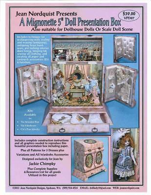 "Jean Nordquist's 5""Mignonette Presentation Box w/patterns, plans, paper graphics"