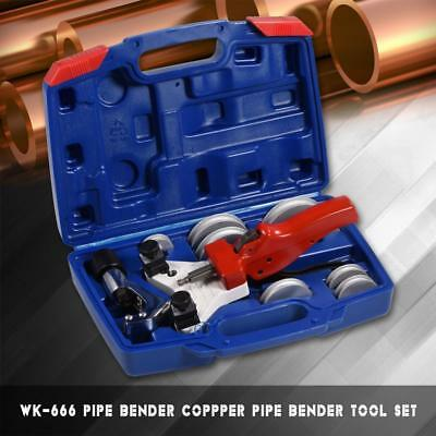 WK-666 Multi Copper Pipe Bender Tube bending Hand Tool Kit w/ Tube Cutter 5-12mm