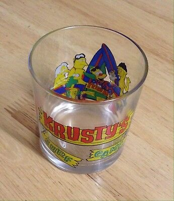 Simpsons Drinking Glass © 2001 - Krusty's Surf Camp.
