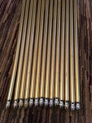Used Stair Rods X 15 With Fixing Brackets 2.5ft 30 Inches.