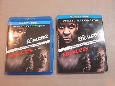 The Equalizer -2 Movie Collection - Blu Ray -W/ Slipcover -Very Good- Ships Free