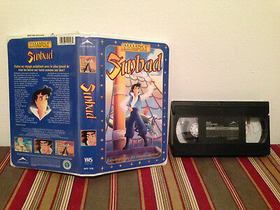Sinbad VHS tape & clamshell case FRENCH