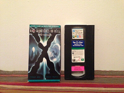 The X-Files - Darkness Falls/The Erlenmeyer Flask VHS tape & sleeve FRENCH