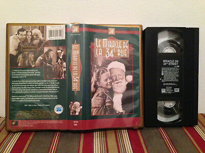 Miracle on 34th Street  Le miracle de la 34e rue VHS tape & clamshell FRENCH 2/2