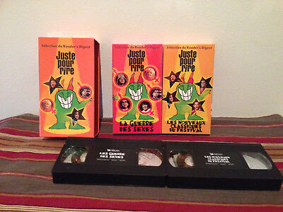 Coffret juste pour rire reader's digest VHS tape & sleeve FRENCH