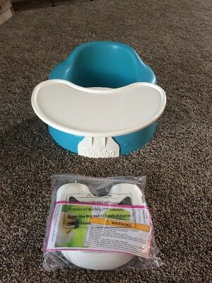 BUMBO BABY SEAT BLUE WITH SAFETY STRAPS INCLUDED NOT INSTALLED and TRAY