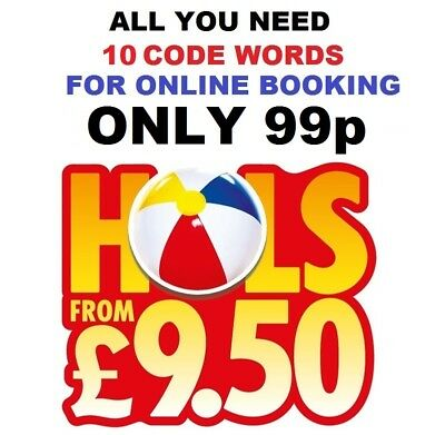 Sun Holidays £9.50 Booking Codes  ALL 10  Codewords for Online Booking